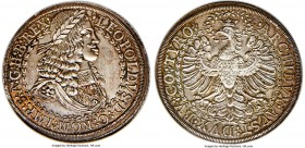 Leopold I 2 Taler ND (c. 1670) MS65 NGC, Hall mint, KM1119.1, Dav-3247. With an exceptional appeal that is likely unrivaled for the type, this pristin...