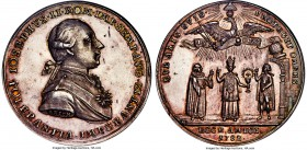 "Joseph II silver ""Remission of the Edict of Tolerance"" Medal 1782 MS60 NGC, Julius-2782, Forrer V-69. 42mm. 24.45gm. A deeply struck issue with fully ..."