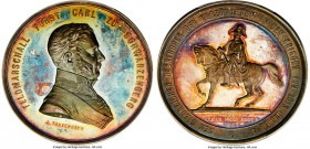 Franz Joseph I silver Specimen Medal 1867 SP64 PCGS, Hauser-224, Wurzbach-2244, Donebauer-3901. Struck for the unveiling of the Monument of the Marsha...