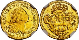 Jose I gold 800 Reis 1768-B AU Details (Obverse Scratched) NGC, Bahia mint, KM180.1, Gomes-29.12. The penultimate year from this series, as well as a ...