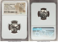 LUCANIA. Heraclea. Ca. 330-280 BC. AR stater (19mm, 7.85 gm, 6h). NGC Choice AU 5/5 - 2/5, Fine Style, smoothing. ΗΕPΑΚΛΗΙΩ - Ν Head of Athena right w...