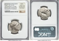 MACEDONIAN KINGDOM. Philip II (359-336 BC). AR tetradrachm (26mm, 14.46 gm, 7h). NGC AU S 5/5 - 4/5, Fine Style. Lifetime or early posthumous issue of...