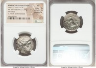MACEDONIAN KINGDOM. Philip II (359-336 BC). AR tetradrachm (23mm, 14.35 gm, 8h). NGC XF 5/5 - 3/5, Fine Style. Lifetime or early posthumous issue of A...