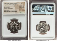 MACEDONIAN KINGDOM. Alexander III the Great (336-323 BC). AR tetradrachm (25mm, 17.14 gm, 1h). NGC VF 5/5 - 3/5, Fine Style. Early posthumous issue of...