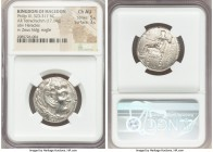 MACEDONIAN KINGDOM. Philip III Arrhidaeus (323-317 BC). AR tetradrachm (26mm, 17.14 gm, 7h). NGC Choice AU 5/5 - 3/5. Susa, ca. 323-318/7 BC. Head of ...