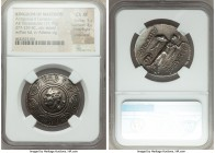 MACEDONIAN KINGDOM. Antigonus II Gonatas (277/6-239 BC). AR tetradrachm (32mm, 17.10 gm, 7h). NGC Choice XF 5/5 - 3/5, Fine Style, edge bend. Amphipol...