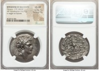MACEDONIAN KINGDOM. Perseus (179-168 BC). AR tetradrachm (33mm, 15.27 gm, 11h). NGC Choice XF 5/5 - 3/5. Reduced standard, Pella or Amphipolis, ca. 17...