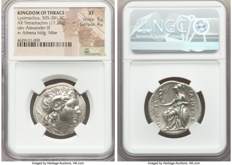 THRACIAN KINGDOM. Lysimachus (305-281 BC). AR tetradrachm (27mm, 17.20 gm, 12h)....