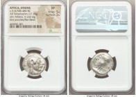 ATTICA. Athens. Ca. 510/500-480 BC. AR tetradrachm (21mm, 17.19 gm, 4h). NGC  XF 5/5 - 3/5, test punches. Head of Athena right, wearing crested Attic ...