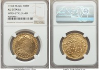 Jose I gold 6400 Reis 1769-R AU Details (Harshly Cleaned) NGC, Rio de Janeiro mint, KM172.2. A well-struck and more affordable example of the type wit...