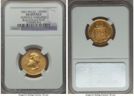 Pedro II gold 10000 Reis 1882 AU Details (Surface Hairlines) NGC, KM467, Russo-665. Lightly cleaned in the past, but still an attractive example with ...