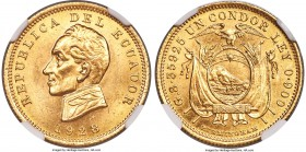Republic gold Condor 1928 MS64 NGC, Birmingham mint, KM74. A choice example of this popular type coin.   HID99912102018