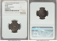 Kings of All England. Henry I (1100-1135) Penny ND (c. 1111) XF40 NGC, London mint, Dereman as moneyer, Facing bust/Quatrefoil with Piles type, 1.32gm...