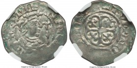 Stephen (1135-54) Penny ND AU55 NGC, Wilton mint, Tomas as moneyer, 'Watford' type, 1.21gm, S-1278, North-873. Pennies of Stephen are notorious for th...