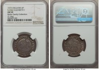 Elizabeth I (1558-1603) 6 Pence 1573 AU50 NGC, Tower mint, Acorn mm, Fourth Issue, Intermediate Bust 4B, 3.14gm, S-2562. A normally unfathomable grade...