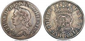 "Oliver Cromwell Shilling 1658 VF35 PCGS, KMA207, S-3228. A scarce one-year issue from the final year of England's only ""Lord Protector"", especially ra..."