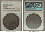 Staffordshire. Bilston - Priestfield Furnaces copper 2 Pence Token 1811 XF45 Brown NGC, Withers-42 (R), Davis-28 (R). By Samuel Fereday. A very rare 2...