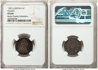 George III Proof 6 Pence 1787 PR64+ NGC, KM606.2. Variety with hearts in the Hannoverian shield. A beloved design, particularly when found in so flawl...