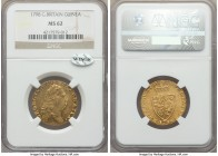 George III gold Guinea 1798 MS62 NGC, KM609, S-3729. Exuding a choice eye appeal with exceptionally glassy peripheries and clear flow lines.  HID99912...
