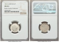 George III 6 Pence 1816 MS65+ NGC, KM665, S-3791. A sublime piece bathed in bright silvery white color. From the Butler Family Collection  HID99912102...