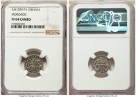 Moulay al-Hasan I Proof Dirham AH 1299 (1881/2)-(Pa) PR64 Cameo NGC, Paris mint, KM-Y5, Lec-5. Proof Mintage: 5. An extreme proof rarity of this typic...