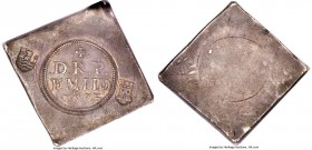 Middelburg Siege Klippe of 36 Stuivers 1572 AU53 NGC, Delm-165, Mailiet-pl.83#2. Struck during the siege of Middelburg as part of the Eighty Years War...