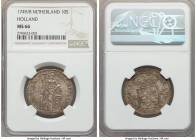 Holland. Provincial 10 Stuivers 1749/8 MS66 NGC, KM95. An incredible opportunity, ranking 18 grade points above the next finest at NGC, the figure of ...