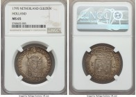Holland. Provincial Gulden 1795 MS65 NGC, KM8.2. A gorgeously toned gem worthy of ample bidder attention.  HID99912102018