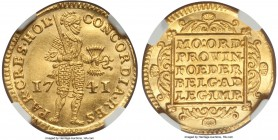 Holland. Provincial gold Ducat 1741 MS64 NGC, KM12.2, Fr-250. An exceptionally deeply and uniformly struck example with a gratifying roundedness towar...