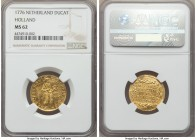 Holland. Provincial gold Ducat 1776 MS62 NGC, KM12.3. Essentially fully struck, with lustrous features and good eye appeal. An important date for Amer...