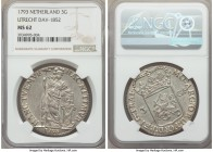 Utrecht. Provincial 3 Gulden 1793 MS62 NGC, KM117, Dav-1852. Lesser-encountered in this near choice state, weakness remarkably absent from the flan an...