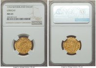 Utrecht. Provincial gold Ducat 1724 MS63 NGC, KM7.4. Laudable quality for the issue, not least because of the preponderant number of 1724 Utrecht duca...