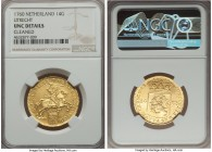 "Utrecht. Provincial gold 14 Gulden 1760 UNC Details (Cleaned) NGC, KM104. A larger issue of the gold ""Rider"" type.  HID99912102018"