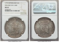 Zeeland silver Ducat 1775 MS63 NGC, KM57.2, Dav-1848. Evincing just minor weakness in the peripheral registers with otherwise strong legends, this hig...