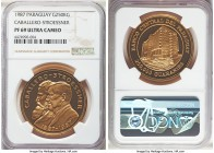 "Republic gold Proof ""Caballero-Stroessner"" 250000 Guaranies 1987 PR69 Ultra Cameo NGC, KM172. Incredibly scarce as half of the original mintage 250 pi..."