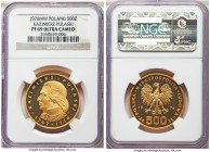 "People's Republic gold Proof ""Kazimierz Pulaski"" 500 Zlotych 1976 PR69 Ultra Cameo NGC, Warsaw mint, KM-Y85. A dazzling example depicting the bust of ..."