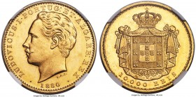 Luiz I gold 10000 Reis 1880 MS64 NGC, KM520. Very lustrous and attractive, and right on the cusp of being Gem Mint State.   HID99912102018