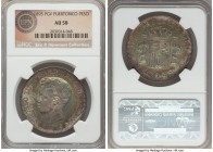 Spanish Colony. Alfonso XIII Peso 1895-PGV AU58 NGC, KM24. An already condition-sensitive issue that significantly escalates in rarity as it approache...