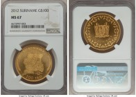Republic gold 100 Dollars 2012 MS67 NGC, KM-Unl. AGW 1.00 oz.  HID99912102018