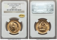 "Republic gold Lira ND (1981) MS67 NGC, KM942a. Celebrating the birth of Ataturk. With gold ""WINGS"" sticker. AGW 0.4717 oz.  HID99912102018"