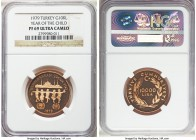 "Republic gold Proof ""Year of the Child"" 10000 Lira 1979 PR69 Ultra Cameo NGC, KM933. AGW 0.4968 oz.  HID99912102018"