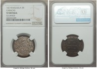 Caracas. Royalist and/or Republican 2 Reales (Macuquinas) L-M 142 VF Details (Cleaned) NGC, Caracas mint, KM-C13.1. Well-centered if clearly worn, and...