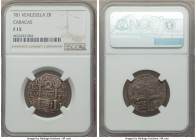 Caracas. Royalist and/or Republican 2 Reales (Macuquinas) L-M 781 F15 NGC, Caracas mint, KM-C13.1. A notoriously scarce provincial issue that comes hi...