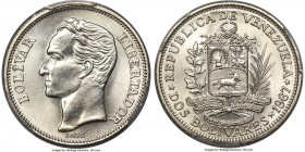 Republic Specimen 2 Bolivares 1967-(l) SP67 PCGS, London mint, KM-Y43. A dazzling gem with sublime detail and virtually no imperfections.  HID99912102...