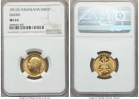 Alexander I gold Ducat 1931-(K) MS64 NGC, Belgrade mint, KM12.3. With sword countermark. AGW 0.1106 oz.  HID99912102018
