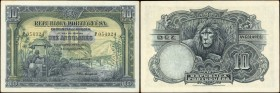 ANGOLA. Provincia de Angola. 10 Angolares, 1926. P-67. Choice Uncirculated.