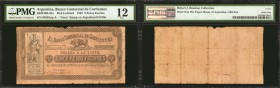 ARGENTINA. Banco Comercial de Corrientes. 5 Pesos, 1867. P-UNL. PMG Fine 12.