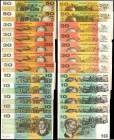 AUSTRALIA. Large lot of Australian Bank Notes. Mixed Banks. Mixed Denominations, Mixed Dates. P-Various.