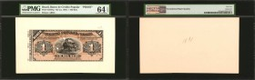 BRAZIL. Banco de Credito Popular. 1 Mil Reis, ND (ca. 1891). P-S550Ap. Proof. PMG Choice Uncirculated 64 EPQ.