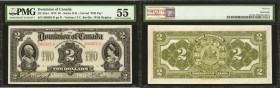 CANADA. Dominion of Canada. 2 Dollars, 1914. DC-22a-i. PMG About Uncirculated 55.
